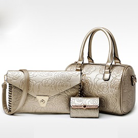 Ericdress Elegant Rose Embossed Handbags(3 Bags)