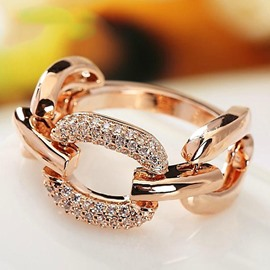 Unique Chain Shaped Alloy Ring