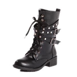 Ericdress Cool Lace-up Ankle Boots with Rivets