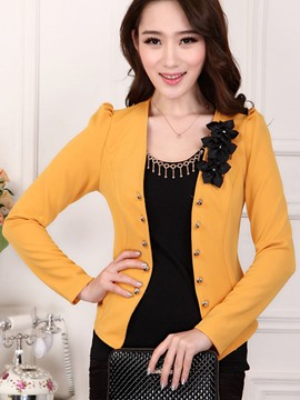 Ericdress Elegant Appliques Blazer