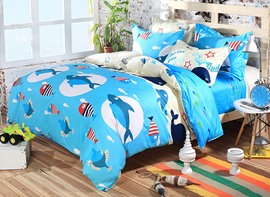 Ericdress Sea Fish Print Kids Bedding Sets
