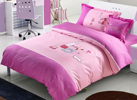 Ericdress Pink Pajama Party Kids Bedding Sets