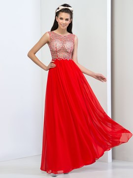 Ericdress Beading Open Back Floor-Length Prom Dresss