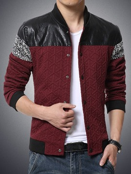 Ericdress Color Block Patchwork Men's Jacket