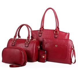 Ericdress Lastest Stylish Embossed Tote Bags(6 Bags)
