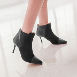 Ericdress Patchwork Pointed-toe High Heel Boots