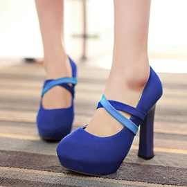 Ericdress Bright Chunky Heel Pumps