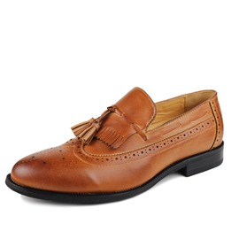 Ericdress Fringe Embossing Men's Brogues