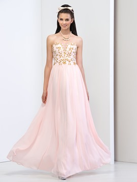 Ericdress Sweetheart Beaded Draped Prom Dress