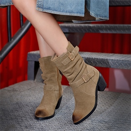 Ericdress Chic High Heel Booties with Buckles