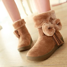 Ericdress Bowknot Decorated Snow Boots