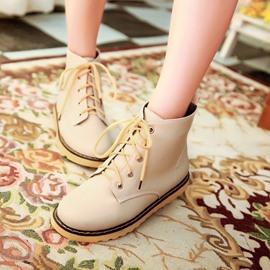 Ericdress Cute Lace-up Flat Boots
