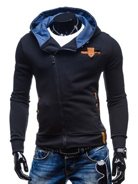 Ericdress Hooded Zip Casual Men's Hoodie