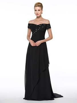 Ericdress Elegant Off the Shoulder Chiffon Mother of the Bride Dress