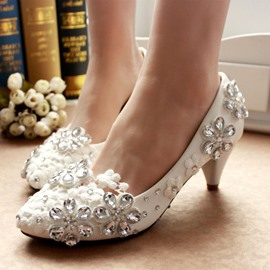 Ericdress Patent leather Rhinestone Decoration Wedding Shoes