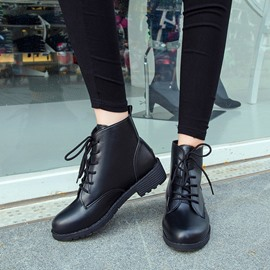 Ericdress Charming Black Lace-up Ankle Boots