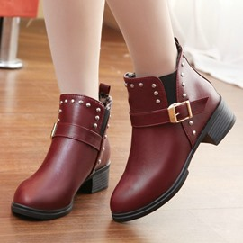 Ericdress Amazing Chunky Heel Ankle Boots with Rivets