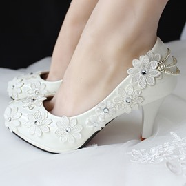 Ericdress Princess Lace Flower&crystal Wedding Shoes