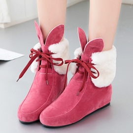 Ericdress Cute Rabiit Lace-up Ankle Boots