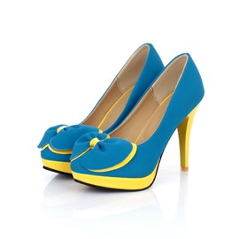 Ericdress Bright Bowtie Decoration High Heel Pumps