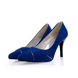 Ericdress Chic Suede Pointed-toe Pumps