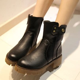 Ericdress Cool PU Ankle Boots