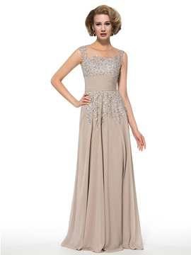 Ericdress Fancy Jewel Beading Appliques A Line Long Mother of the Bride Dress