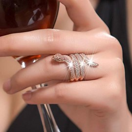 Ericdress Diamond Snake Shape Ring