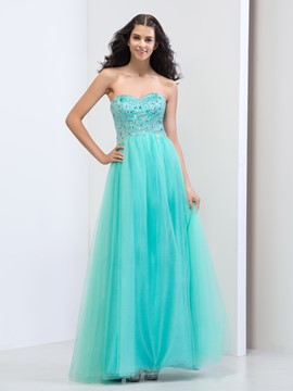 Ericdress Sweetheart Beading Sequins Zipper-Up Prom Dress