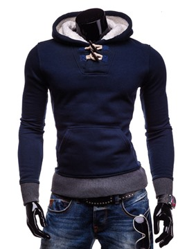 Ericdress Thicken Hooded Pullover Men's Hoodie