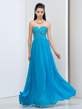 Ericdress Sweetheart Draped Beading Sequins Prom Dress