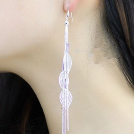 Stylish Leaf Decorated Alloy Earrings