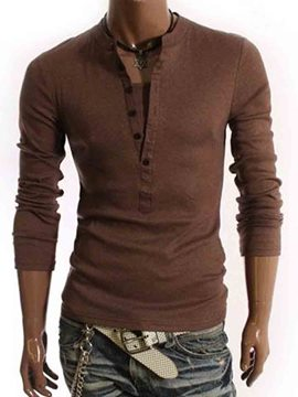 Ericdress Plain Double-Layer Pullover Men's T-Shirt