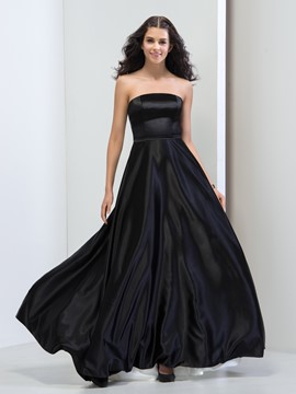 Ericdress Strapless A-Line Floor-Length Prom Dress