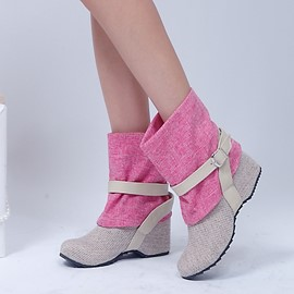 Ericdress Patchwork Ankle Boots with Buckles