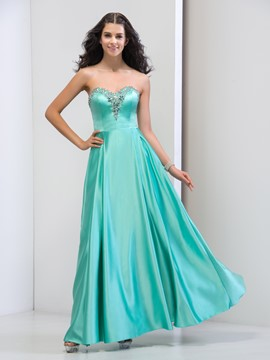 Ericdress A-Line Sweetheart Beaded Ruffles Long Prom Dress