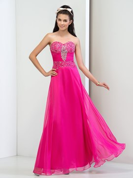 Ericdress A-Line Sweetheart Pleats Sequins Prom Dress