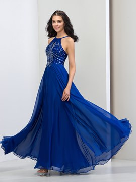 Ericdress A-Line Halter Sequins Long Prom Dress