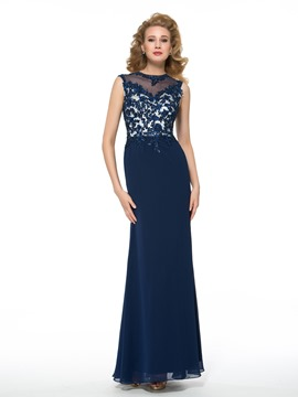 Ericdress Fancy Jewel Appliques Sheath Long Mother of the Bride Dress