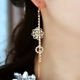 Unique Hollow-out Flower Decorated Alloy Earrings