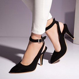 Ericdress Korean Pointed-toe Ankle Strap Pumps