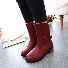 Ericdress Chic PU Martin Ankle Boots