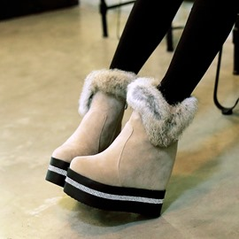 Ericdress Unique Wedge Snow Ankle Boots