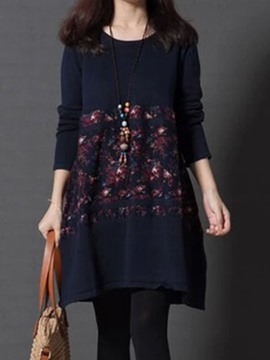 Ericdress Patchwork A-Line Casual Dress