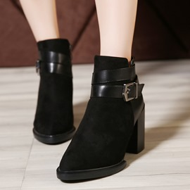 Ericdress Pointed-toe Chunky Heel Ankle Boots