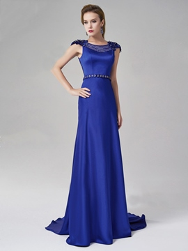 Ericdress Glamorous Empire Cap Sleeves Appliques Evening Dress