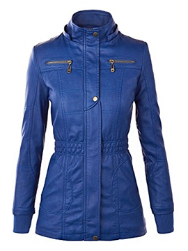 Ericdress Blue Warm Causal Jacket