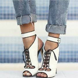 Ericdress Unique Lace-up Stiletto Sandals