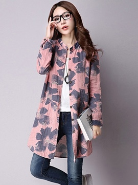 Ericdress Print Mid-Length Blouse