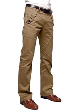 Ericdress Solid Color Pocket Men's Pants